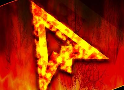 Огненные яркие курсоры