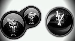 Индикатор процессора и стрелочные часы в стиле «Карателя»