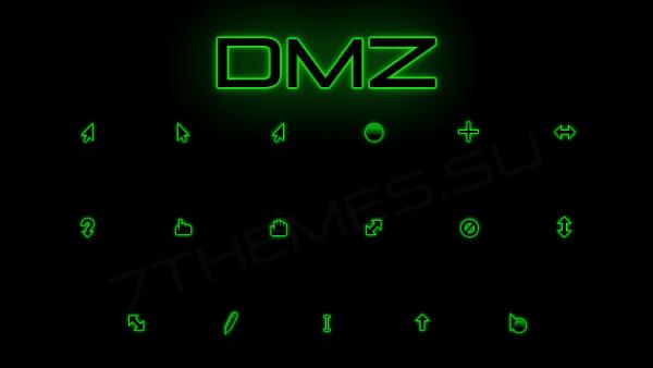 Неоновые курсоры зеленого цвета
