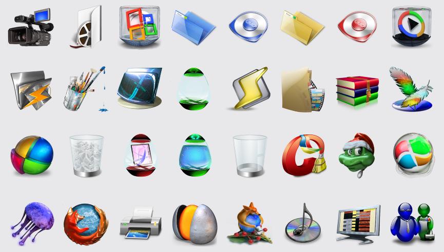 Огромная коллекция 3D иконок для рабочего стола