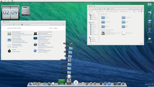 Оформление Windows 8/8.1 в стиле OS X Mavericks - Скриншот #1
