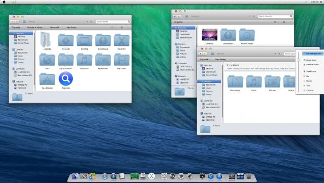 Оформление Windows 8/8.1 в стиле OS X Mavericks - Скриншот #3