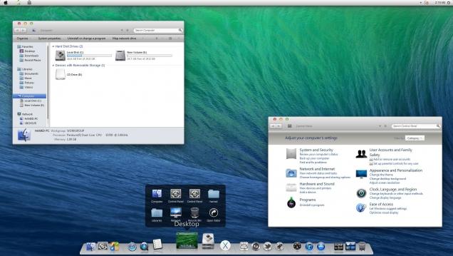 Оформление Windows 8/8.1 в стиле OS X Mavericks - Скриншот #2