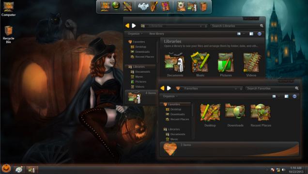 Пакет оформления в стиле праздника Halloween - Скриншот #1