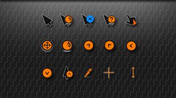 Указатели для мыши темно-оранжевого цвета