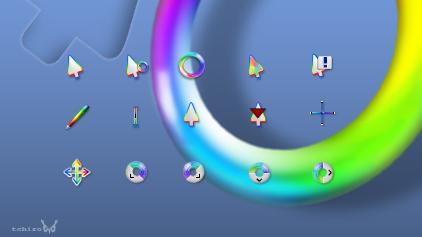 Разноцветные указатели для мыши