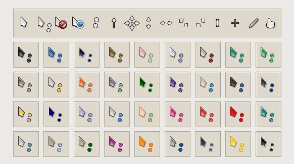 Набор указателей разных цветов