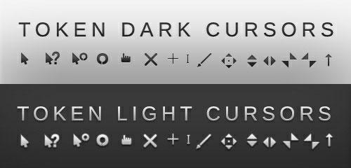 Курсоры в тёмном и светлом оттенках