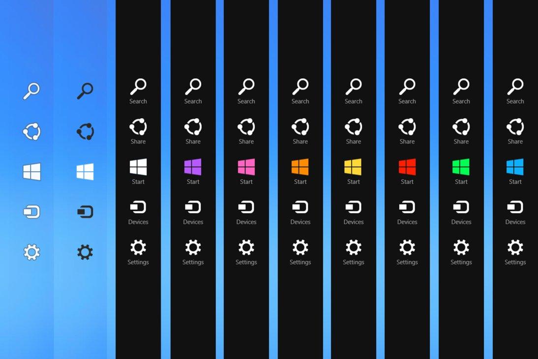 Charms Bar Customizer — Программа для замены иконок в боковом меню Windows 8.1