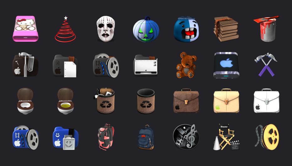 Красивые иконки в стиле MAC ОС