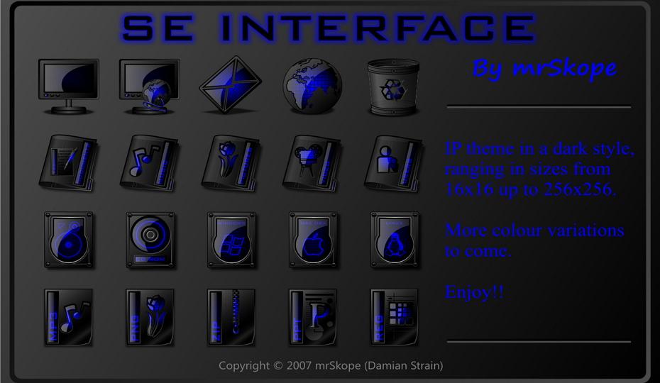 SE Interface blue