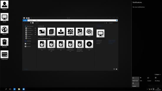 Классическая тема Windows 10 Black Edition - Скриншот #2
