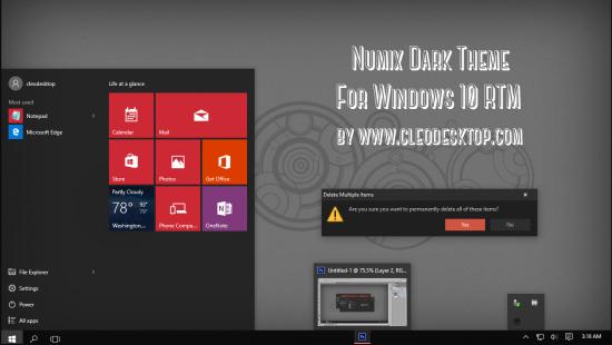 Numix Dark - Скриншот #1