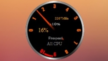 Fire Speed CPU Gauge