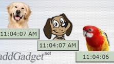 Цифровые часы из животными