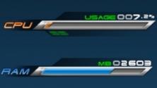 Индикатор загрузки процессора или — или памяти во стиле зрелище FinalFantasy
