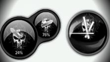 Индикатор процессора равным образом стрелочные время на стиле «Карателя»
