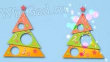 Бумажная новогодняя ёлочка c анимацией для того рабочего стола
